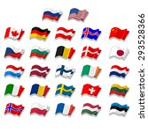 set of flags. vector. | Shutterstock .eps vector #293528366