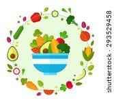 advertisement set of concept... | Shutterstock .eps vector #293529458