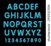neon glow alphabet. vector... | Shutterstock .eps vector #293531504