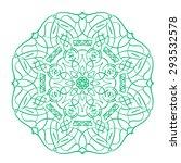 mint circular pattern  mandala | Shutterstock .eps vector #293532578