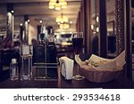 italian restaurant serving... | Shutterstock . vector #293534618