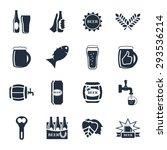 beer vector icon set   bottle ... | Shutterstock .eps vector #293536214