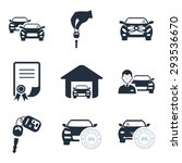 car dealership icons   Shutterstock .eps vector #293536670
