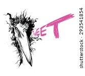 art bird marabou tweet | Shutterstock .eps vector #293541854