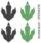 dinosaur footprint. vector... | Shutterstock .eps vector #293546150