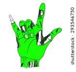 zombie hand vector doing the... | Shutterstock .eps vector #293546750