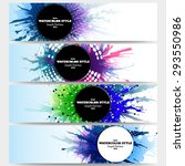 web banners collection ... | Shutterstock .eps vector #293550986