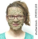 oatmeal face mask | Shutterstock . vector #293551103