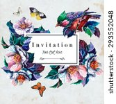 Invitation Card With Blooming...