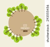 nature banner. ecology concept... | Shutterstock .eps vector #293555456