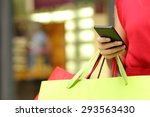 Shopper Woman Hand Shopping...
