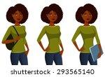 african american student girl...   Shutterstock .eps vector #293565140