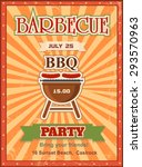 invitation card on the barbecue ... | Shutterstock .eps vector #293570963