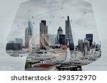 double exposure of success... | Shutterstock . vector #293572970
