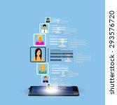 social media circles  network. | Shutterstock .eps vector #293576720