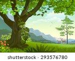 wildlife in grasslands | Shutterstock .eps vector #293576780
