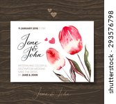 wedding invitation card with... | Shutterstock .eps vector #293576798