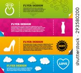 flyer brochure designs. wedding ... | Shutterstock .eps vector #293580200