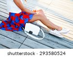 outdoor summer lifestyle... | Shutterstock . vector #293580524