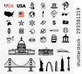 Stock vector america icons set illustration eps 293581319