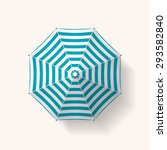 realistic beach umbrella... | Shutterstock .eps vector #293582840