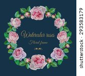 vector floral frame with...   Shutterstock .eps vector #293583179