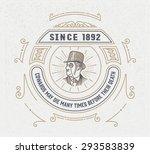 vintage logo template  hotel ... | Shutterstock .eps vector #293583839