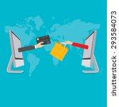 business concept. online... | Shutterstock .eps vector #293584073