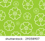 green background with white... | Shutterstock . vector #29358907