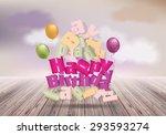 happy birthday design template ... | Shutterstock .eps vector #293593274
