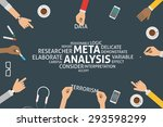 vector meta analysis concept... | Shutterstock .eps vector #293598299