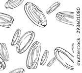 onion food pattern vector black ... | Shutterstock .eps vector #293601080