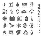 Energy Power Icons Set Of Sola...