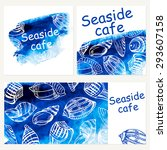 seafood menu design template.... | Shutterstock .eps vector #293607158