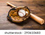 close up of leather glove with... | Shutterstock . vector #293610683