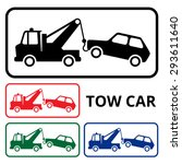 tow car icons. | Shutterstock .eps vector #293611640