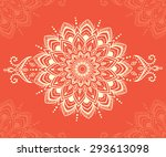 ornament beautiful  card with... | Shutterstock .eps vector #293613098
