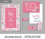 vector set of invitation cards... | Shutterstock .eps vector #293619140