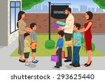 a vector illustration of family ... | Shutterstock .eps vector #293625440