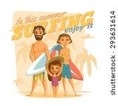 surfing in this summer. enjoy it | Shutterstock .eps vector #293631614