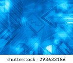 blue data corporate abstract... | Shutterstock . vector #293633186