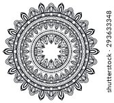 black and white mandala  tribal ... | Shutterstock .eps vector #293633348