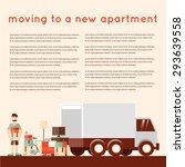 moving into a new apartment.... | Shutterstock .eps vector #293639558