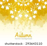 watercolor autumn abstract... | Shutterstock .eps vector #293643110