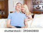 senior couple relaxing on sofa ...   Shutterstock . vector #293643800