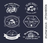 vector retro set of farm fresh... | Shutterstock .eps vector #293648006