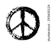 peace sign | Shutterstock .eps vector #293650124