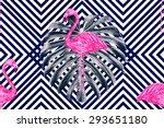 beautiful seamless vector... | Shutterstock .eps vector #293651180