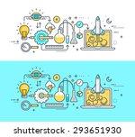 thin line flat design concept... | Shutterstock .eps vector #293651930