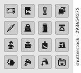 kitchen icon set | Shutterstock .eps vector #293654273